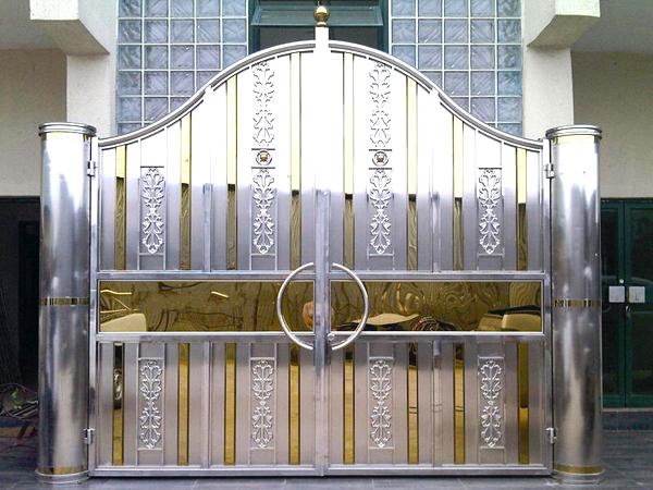 mẫu cổng inox